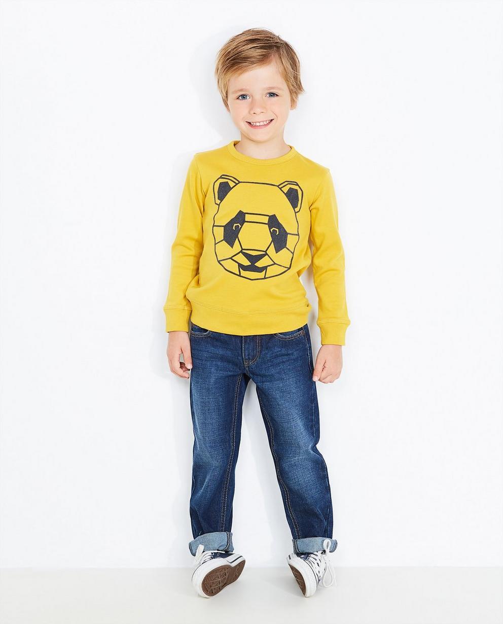 Sweater mit Bärenprint - in Nachtblau - Best price